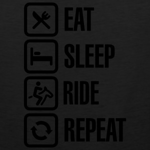 Eat - Sleep - Ride Horse - Repeat T-Shirts - Men's Premium Tank