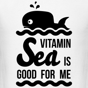 Vitamin sea is good for me C holiday ocean beach Tanks - Men's T-Shirt