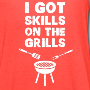 I Got Skills on the Grills Cookout BBQ T-Shirts - Women's Flowy Tank Top by Bella