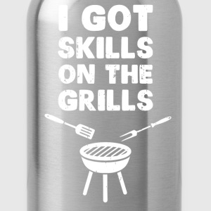 I Got Skills on the Grills Cookout BBQ T-Shirts - Water Bottle