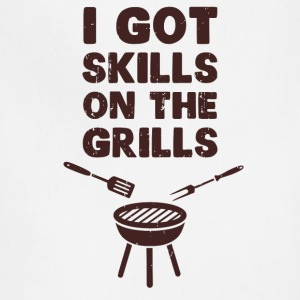 I Got Skills on the Grills Cookout BBQ T-Shirts - Adjustable Apron