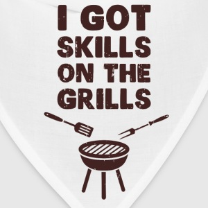 I Got Skills on the Grills Cookout BBQ T-Shirts - Bandana