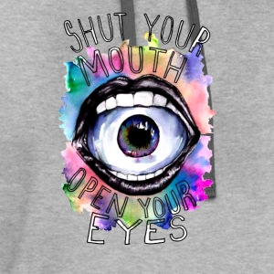Open your Eyes - Contrast Hoodie
