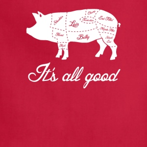 It's All Good Pig Pork Meat Map T-Shirts - Adjustable Apron