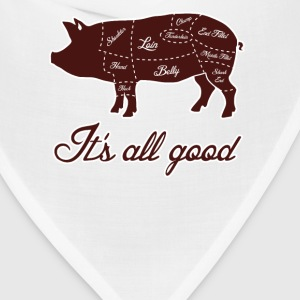 It's All Good Pig Pork Meat Map T-Shirts - Bandana