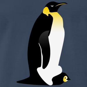 Penguin parent with his baby Long Sleeve Shirts - Men's Premium T-Shirt