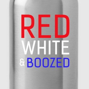 Patriotism - Red white & boozed - Water Bottle