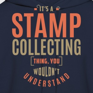 Stamp Collecting T-shirt - Men's Hoodie