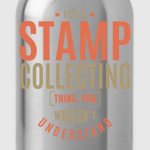 Stamp Collecting T-shirt - Water Bottle