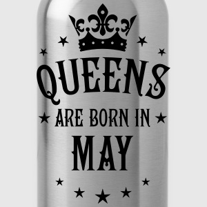 Queens are born in May Crown Stars sexy Woman T-Sh - Water Bottle