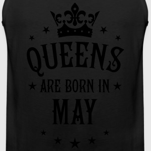 Queens are born in May Crown Stars sexy Woman T-Sh - Men's Premium Tank