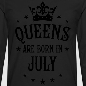 Queens are born in July Crown Stars sexy Woman T-S - Men's Premium Long Sleeve T-Shirt