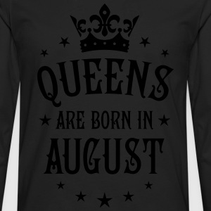 Queens are born in August Crown Stars sexy Woman T - Men's Premium Long Sleeve T-Shirt