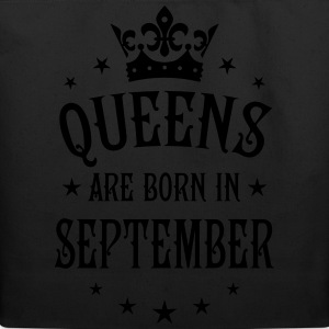 Queens are born in September Crown Stars sexy Woma - Eco-Friendly Cotton Tote