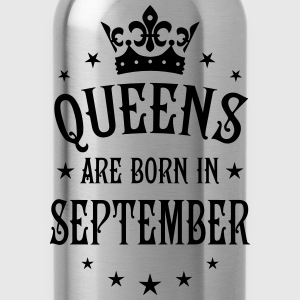 Queens are born in September Crown Stars sexy Woma - Water Bottle