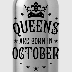 Queens are born in October Crown Stars sexy Woman  - Water Bottle