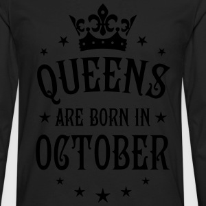 Queens are born in October Crown Stars sexy Woman  - Men's Premium Long Sleeve T-Shirt