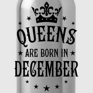 Queens are born in December Crown Stars sexy Woman - Water Bottle