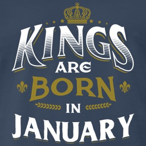 Born Birthday Bday Kings January Sportswear - Men's Premium T-Shirt
