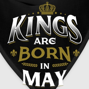 Born Birthday Bday Kings May T-Shirts - Bandana