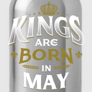 Born Birthday Bday Kings May T-Shirts - Water Bottle