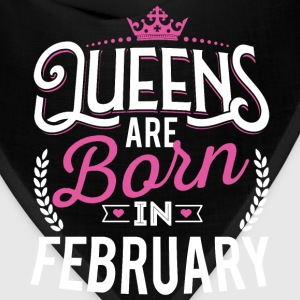 Born Birthday Bday Queens February T-Shirts - Bandana