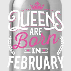 Born Birthday Bday Queens February T-Shirts - Water Bottle