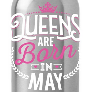 Born Birthday Bday Queens May Tanks - Water Bottle