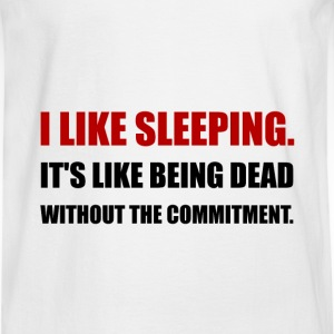 Sleeping Like Dead Commitment - Men's Long Sleeve T-Shirt