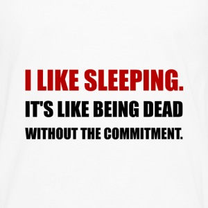 Sleeping Like Dead Commitment - Men's Premium Long Sleeve T-Shirt
