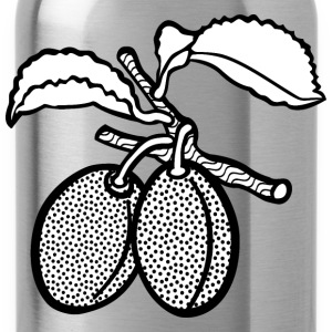 plum lineart - Water Bottle