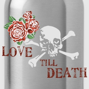 skull_and_roses_12_201603 Kids' Shirts - Water Bottle