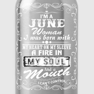 I'm A June Woman T-Shirts - Water Bottle