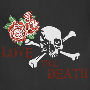 skull_and_roses_12_201603 T-Shirts - Adjustable Apron