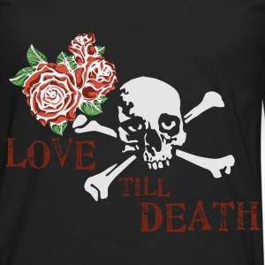 skull_and_roses_12_201603 T-Shirts - Men's Premium Long Sleeve T-Shirt