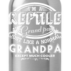 Reptile Grandpa Is Cooler Shirt - Water Bottle