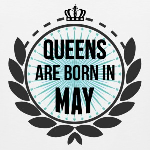 Queens Are Born In May T-Shirts - Men's Premium Tank