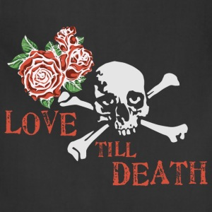 skull_and_roses_12_201601 T-Shirts - Adjustable Apron