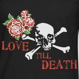 skull_and_roses_12_201601 T-Shirts - Men's Premium Long Sleeve T-Shirt