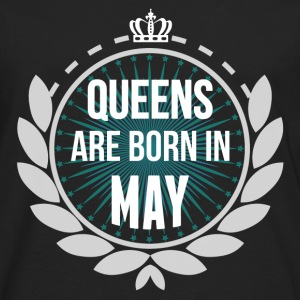 Queens Are Born In May T-Shirts - Men's Premium Long Sleeve T-Shirt
