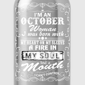 I'm A October Woman T-Shirts - Water Bottle
