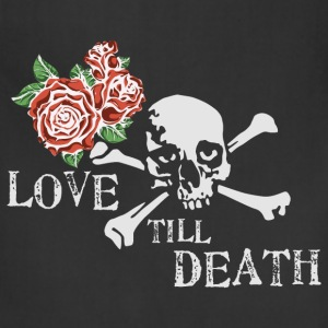 skull_and_roses_12_201602 T-Shirts - Adjustable Apron