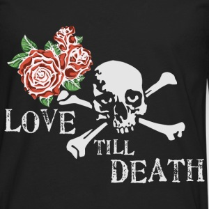 skull_and_roses_12_201602 T-Shirts - Men's Premium Long Sleeve T-Shirt