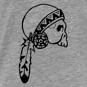 Skull American Native - Men's Premium T-Shirt