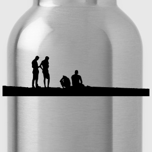 silhouetted friends - Water Bottle