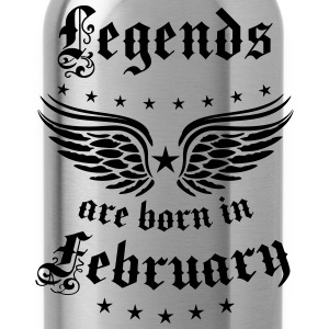 Legends are born in February birthday Vintage Star - Water Bottle