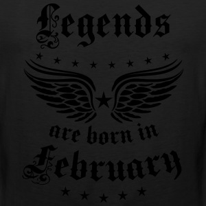 Legends are born in February birthday Vintage Star - Men's Premium Tank