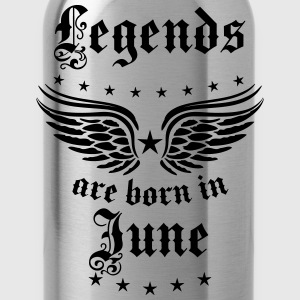 Legends are born in June birthday Vintage Stars se - Water Bottle