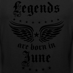 Legends are born in June birthday Vintage Stars se - Men's Premium Tank