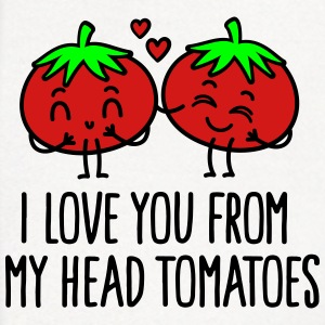 I love you from my head tomatoes Polo Shirts - Contrast Hoodie